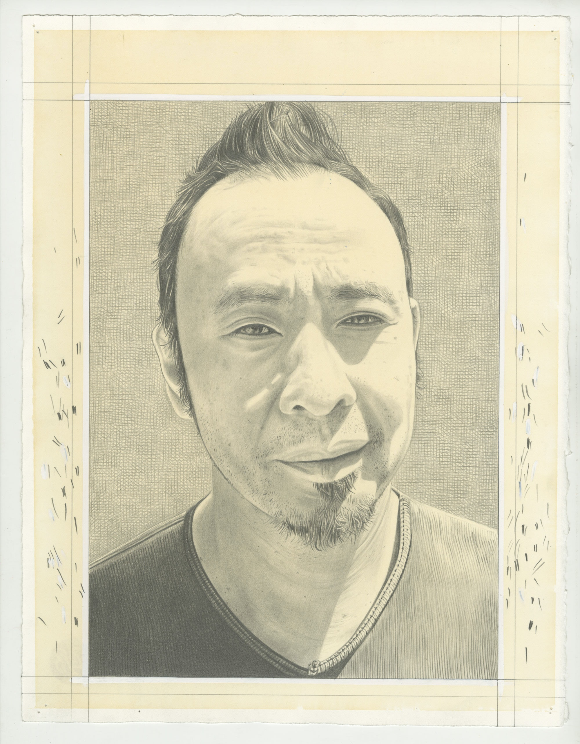Portrait of Tomas Vu. Pencil on paper by Phong Bui.