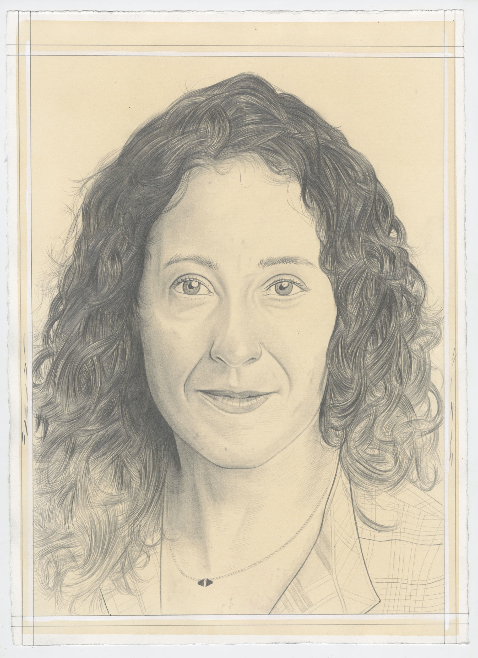 Portrait of Aliza Nisenbaum, pencil on paper by Phong Bui.