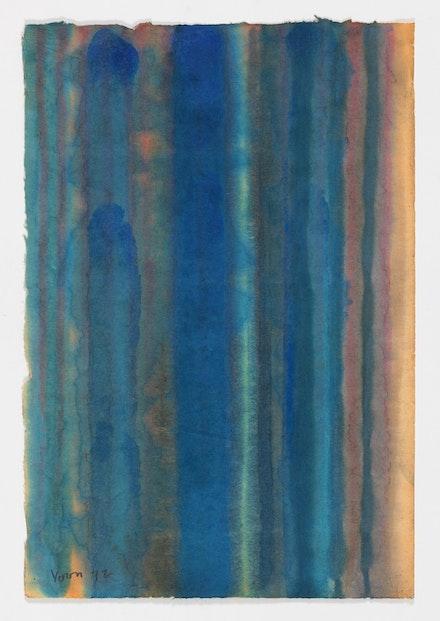 Yun Hyong-Keun,<em> Drawing</em>, 1972. Oil on Hanji (Korean mulberry paper), 49 x 33 centimeters. Courtesy the Estate of Yun Hyong-keun. Image Copyright:  Yun Seong-ryeol.