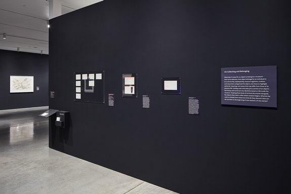 Installation view: <em>About Things Loved: Blackness and Belonging</em>, Berkeley Art Museum and Pacific Film Archive, 2019. Photo: JKA Photography.