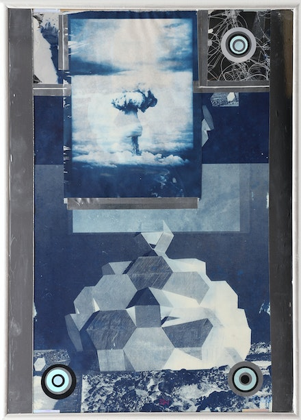 Tomas Vu, <em>321</em>, 2019, cyanotype. 24 x 17 inches. Courtesy the artist.