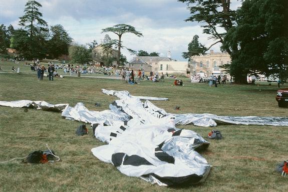 Aleksandra Mir, <em>Plane Landing</em>, 2003. Compton Verney. Courtesy the artist.