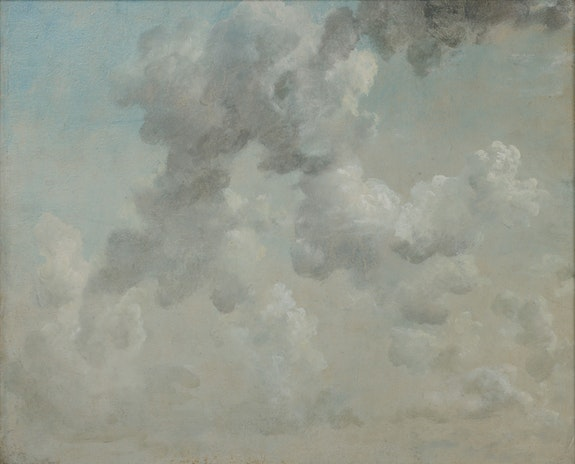 John Constable, <em>Study of Clouds</em>, 1822. Oil on paper,48 x 59 cm. Image © The Ashmolean Museum, University of Oxford. Presented by Sir E. Farquhar Buzzard, Bt, 1933.