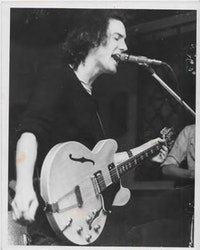 Peter Laughner at the Bottleworks, Cleveland, 1976. Photo by Mik Mellen