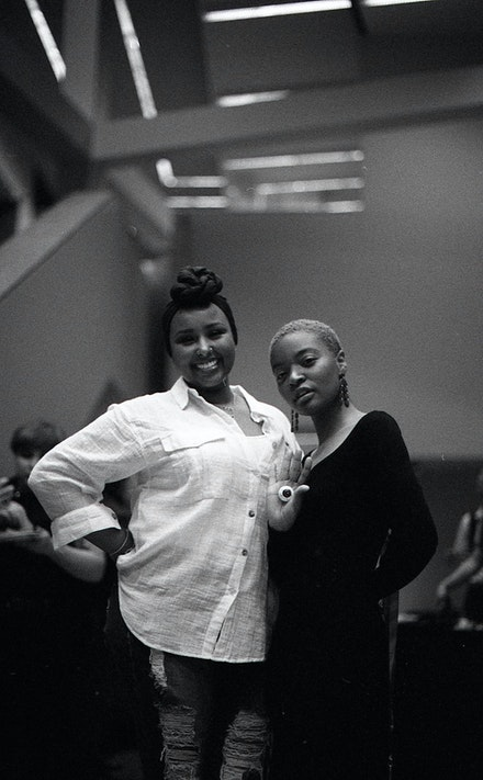 Founders of NO EVIL EYE Rooney Elmi and Ingrid Raphael. Photo: Benjamin Willis / @lowrcaseb