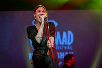 Nadine Shah at WOMAD. Photo by Brenna Duncan.