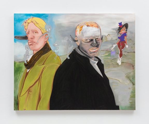 Janiva Ellis, <em>Wokey Doke</em>, 2019. Oil on linen, 60 x 48 inches. Courtesy the artist and 47 Canal, New York. Photo: Joerg Lohse.