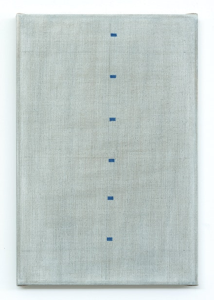 John Zurier, <i>Esjuberg 2</i>, 2019. Glue-size tempera on linen, 23 5/8 x 15 3/4 inches. Courtesy the artist and Peter Blum Gallery, New York