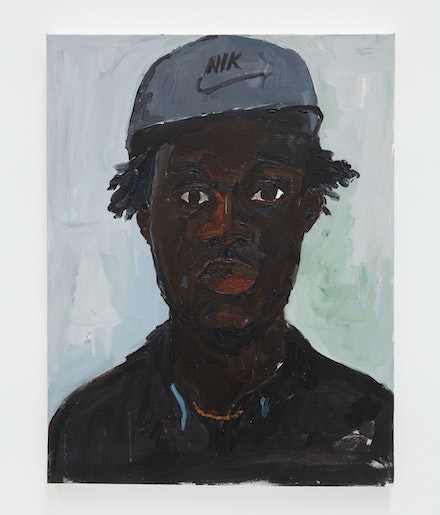 Henry Taylor, <em>Not Yet Titled</em>, 2019. Acrylic on canvas, 25 3/4 x 19 3/4 x 1 inches. © Henry Taylor, Courtesy of the artist and Blum & Poe, Los Angeles/New York/Tokyo.