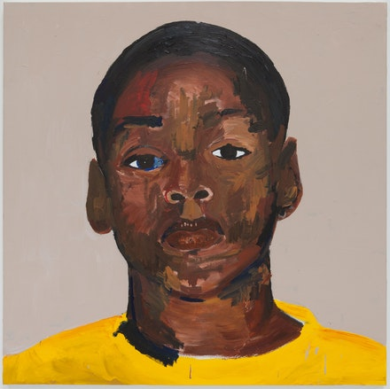 Henry Taylor, <em>A young master</em>, 2017. Acrylic on canvas, 60 x 60 x 1 1/2 inches. © Henry Taylor, Courtesy of the artist and Blum & Poe, Los Angeles/New York/Tokyo.
