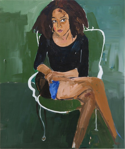 Henry Taylor, <em>Simone Leigh's daughter Zenobia</em>, 2014. Acrylic on canvas, 70 x 58 3/4 inches. © Henry Taylor, Courtesy of the artist and Blum & Poe, Los Angeles/New York/Tokyo.