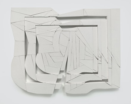 Wyatt Kahn, <em>Looning</em>, 2019. Linen on linen on panel, 66 x 83 inches. © Wyatt Kahn. Courtesy the artist and Galerie Eva Presenhuber, Zurich / New York. Photo: Genevieve Hanson.