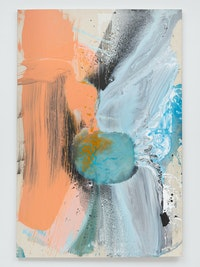 Ed Clark, Untitled, 2004. Acrylic on canvas, 77 x 51 1/8 x  3/4 inches. © Ed Clark. Courtesy the artist and Hauser & Wirth. Photo: Thomas Barratt.