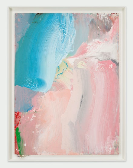 Ed Clark, Untitled, 2009. Acrylic on canvas, 75 x 55 x 1 inches. © Ed Clark. Courtesy the artist and Hauser & Wirth. Photo: Thomas Barratt.