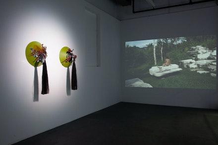 Installation view: <em>Xandra Ibarra: Forever Sidepiece</em>, Knockdown Center, New York, 2019. Photo: © Alexander Perrelli.