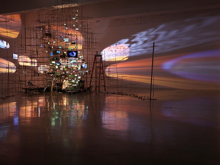 <p>Installation view: <em>Sarah Sze</em>, Tanya Bonakdar Gallery, New York, 2019. Courtesy the artist and Tanya Bonakdar Gallery, New York / Los Angeles. Photo: Genevieve Hanson.</p>