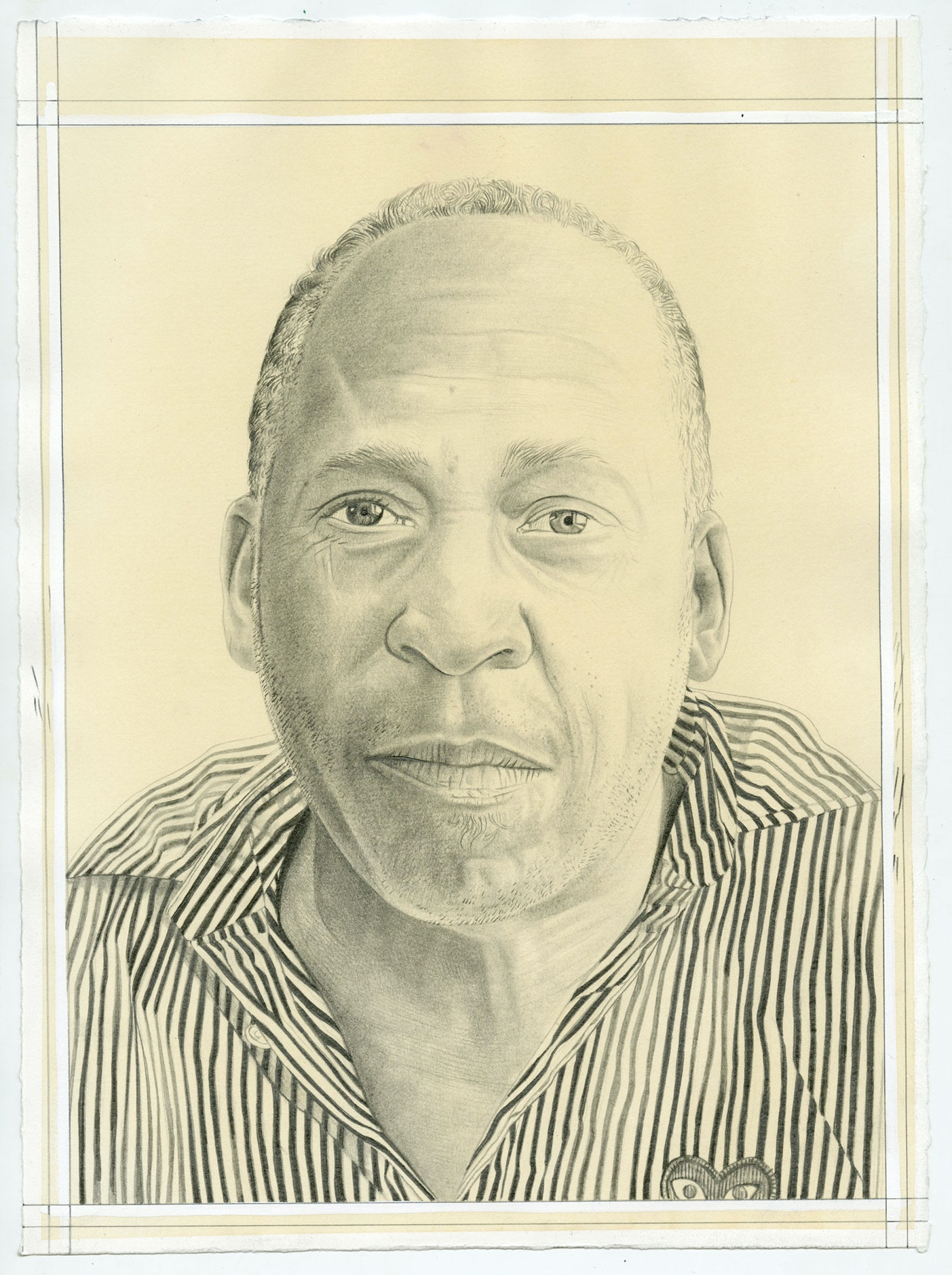 Portrait of Henry Taylor, pencil on paper by Phong Bui.