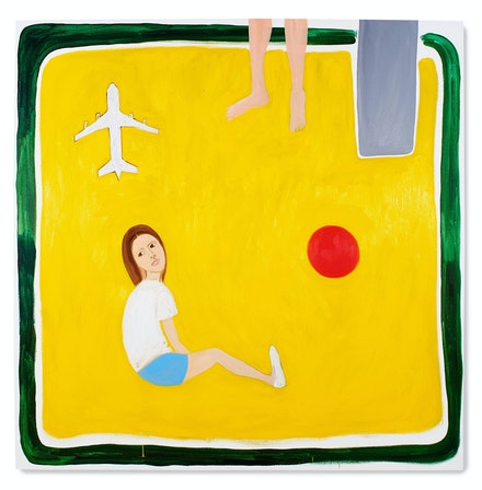 Sinéad Breslin, <em>Sandpit</em>, 2018. Oil on canvas, 71 x 71 inches. Courtesy Marc Straus.