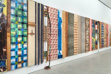 Joe Zucker, <em>100-Foot-Long Piece</em>, 1968-1969. Mixed media, 96 x 816 inches. Courtesy the artist and Marlborough, New York and London. Photo: Pierre Le Hors.