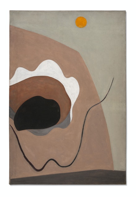 Alexander Calder,<em> Untitled</em>, 1930. Oil on canvas, 39 1/4 x 25 1/2 inches. © 2019 Calder Foundation, New York /Artists Rights Society (ARS), New York. Photo: Calder Foundation, New York / Art Resource, New York.