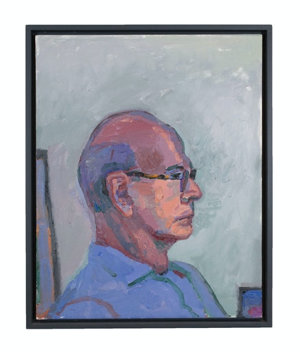 Graham Nickson, <em>Scholar's Gaze</em>, 2019. Oil on canvas, 20 x 16 inches. Courtesy Betty Cuningham, New York.