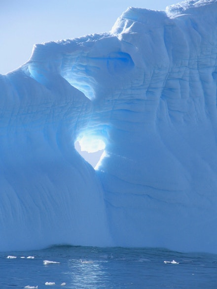 Icebergs near Palmer Station, Antarctica. Photo by the author.