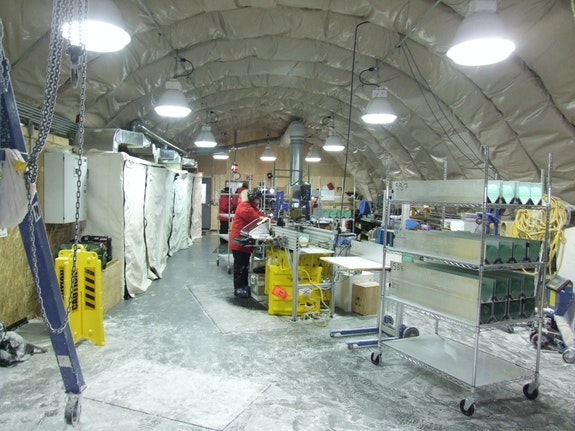 The core-handling side of the Arch facility. Photo: Chad Naughton/NSF