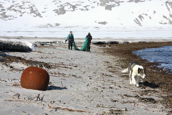 Svalbard beach.