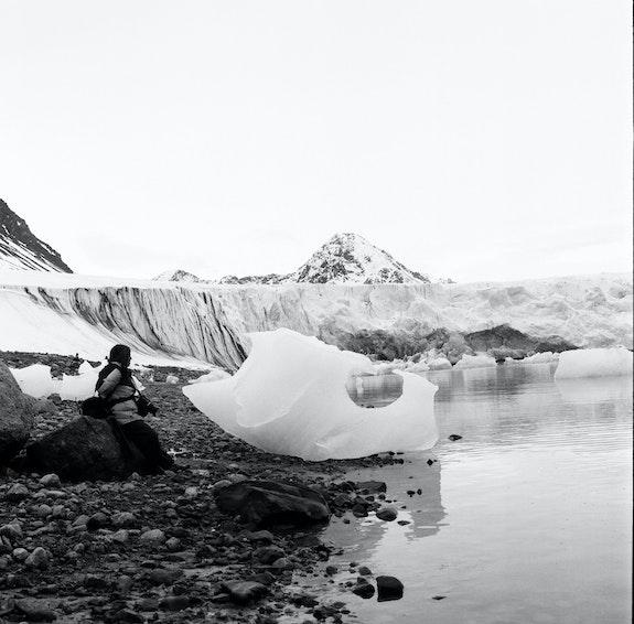 Svalbard iceberg bits.