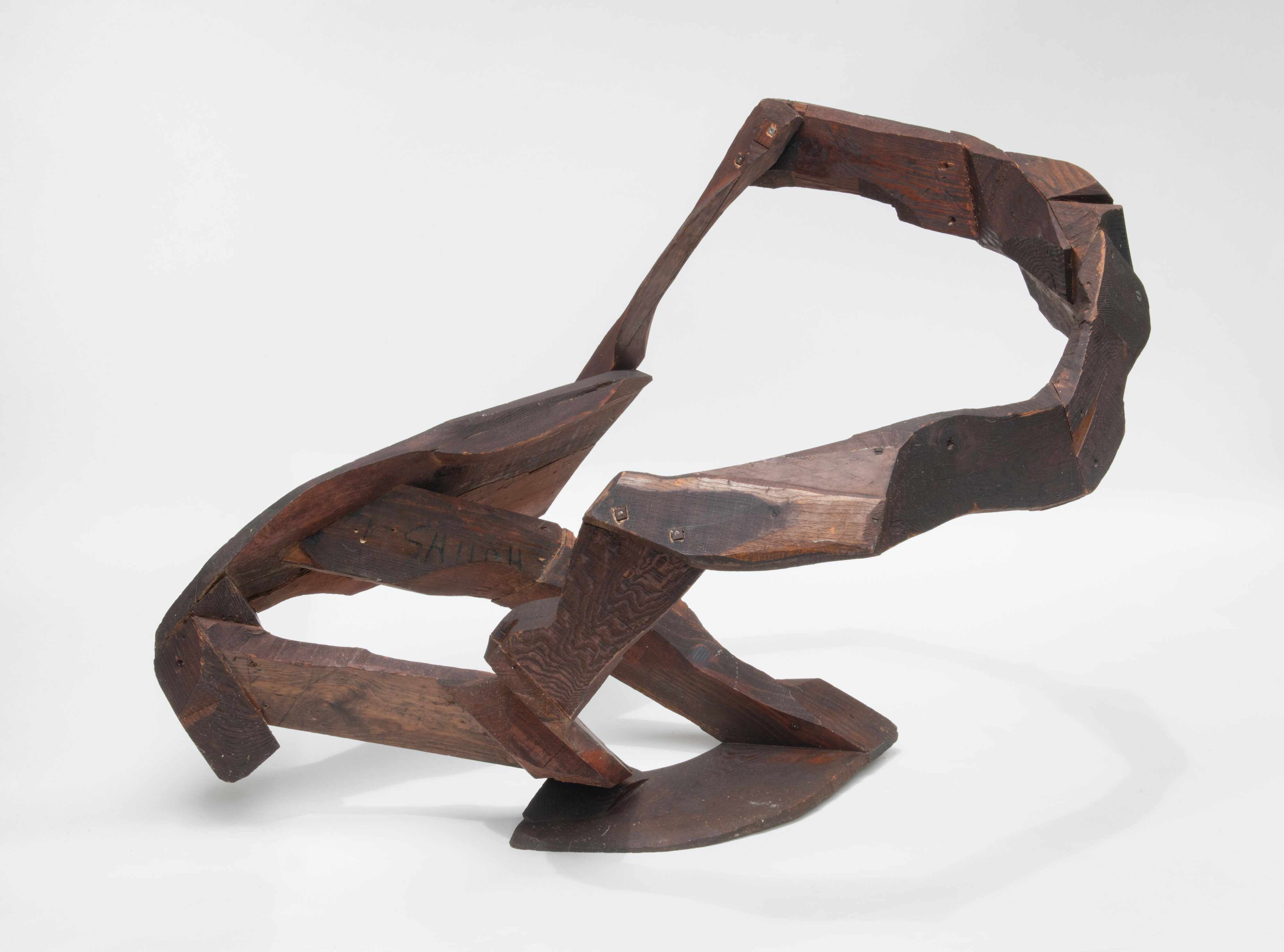 Tom Doyle, <em>Shiloh</em>, c. 1959. Found mixed woods, 38 x 40 x 58 inches. Courtesy Zürcher Gallery, New York.