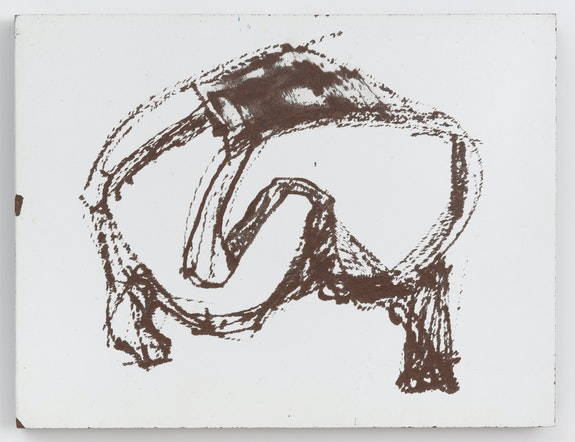 Tom Doyle, <em>Untitled #2</em>, 1961. Marlite, 12 1/4 x 16 inches. Courtesy Zürcher Gallery, New York.</em>
