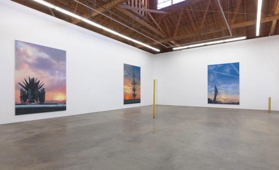Installation view: <em>Sayre Gomez: X-Scapes</em>, François Ghebaly, Los Angeles, 2019. Photo: Robert Wedemeyer.