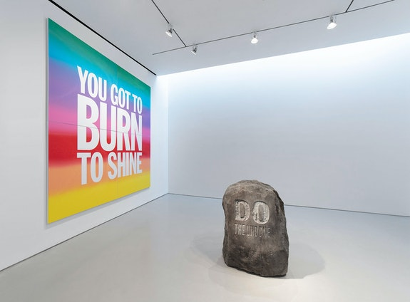 Installation view: <em>John Giorno: DO THE UNDONE</em>, Sperone Westwater, New York, 2019. Courtesy Sperone Westwater, New York.