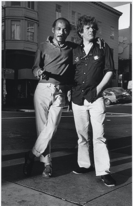 Bob Kaufman and Gregory Corso, Grant Avenue, San Francisco, 1982. Photo: Chris Felver.