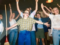12-year-old Liza Birkenmeier as Seymour in <em>Little Shop of Horrors</em> at Clearwater Camp for Girls. Photo: camp counselor