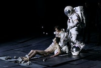 An image from Dimitris Papaioannou's production of <em>The Great Tamer</em>. Photo: Julian Mommert.