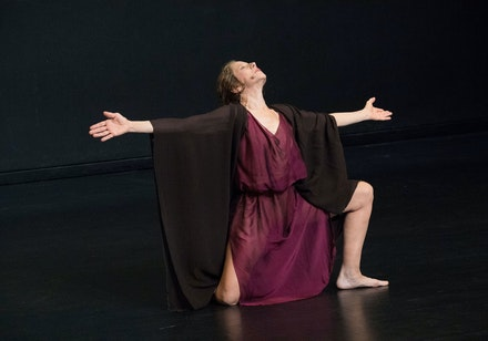 Catherine Gallant in Jerome Bel's <em>Isadora Duncan</em>. Photo: Elena Olivo.