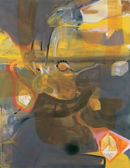 Albert Oehlen, <em>Fn 15</em>, 1990. Oil on canvas, 107 7/8  x 84 1/4  inches.  © Albert Oehlen. Courtesy of the artist and Skarstedt, New York.