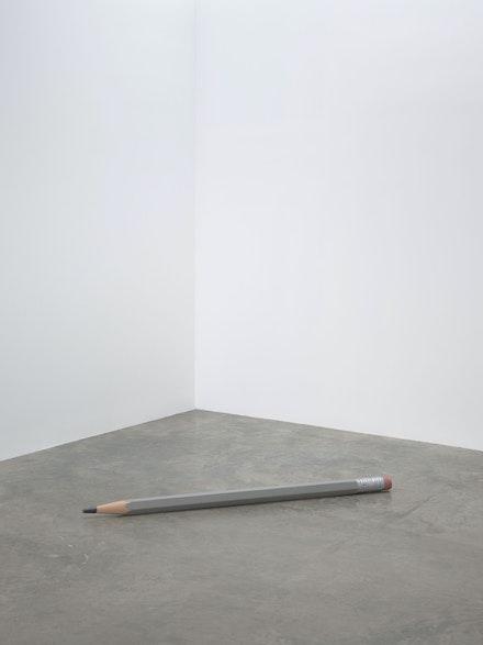 Vija Celmins, <em>Pencil</em>, 1968–70. Wood, canvas, and acrylic paint, 3 x 66 x 3 inches. © Vija Celmins. Courtesy the artist and Matthew Marks Gallery. Photo: Ron Amstutz.
