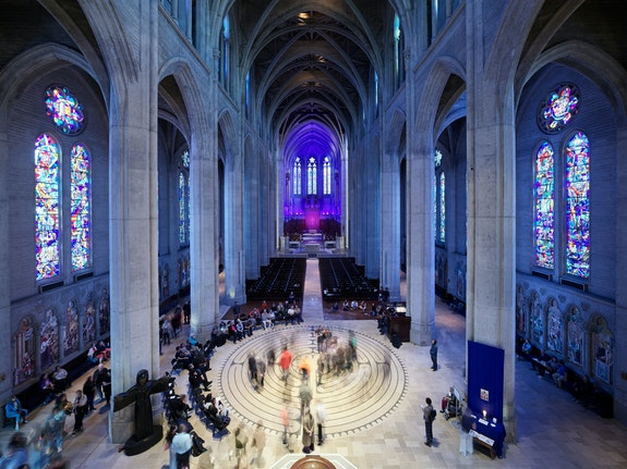 Installation view:<em> Terry Fox: Resonance</em>, Grace Cathedral, October 4, 2019. Courtesy The Lab, San Francisco. Photo: Robert Divers Herrick.