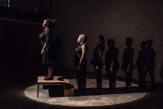 Gabrielle Goliath, Elegy Performances, 2015, Elegy—Eunice Notombifuthi Dube. 1 hour performance. Image courtesy of Gabrielle Goliath