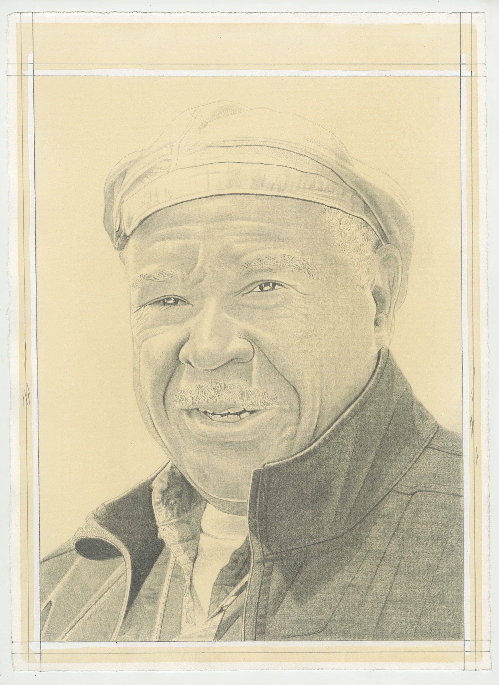Portrait of Melvin Edwards, pencil on paper by Phong Bui.