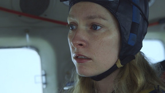 Deragh Campbell in Kazik Radwanski's <em>Anne at 13,000 ft</em>. Photo: Nikolay Michaylov. Courtesy the filmmaker.