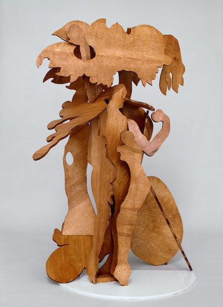 Rachel Feinstein, <em>Adam and Eve</em>, 2007. Wood, stain, and hardware. © Rachel Feinstein. Photo: Marcus Leith.