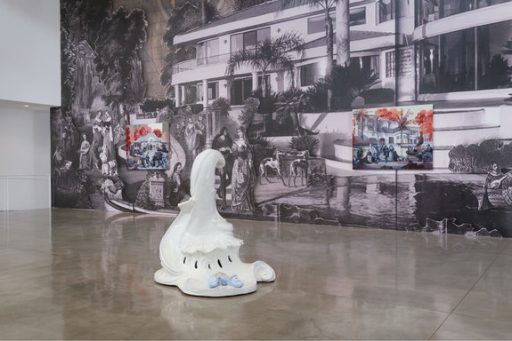 Installation view: <em>Rachel Feinstein:  Secrets</em>, Gagosian, Beverly Hills, 2018. © Rachel Feinstein. Photo: Jeff McLane. Courtesy Gagosian.