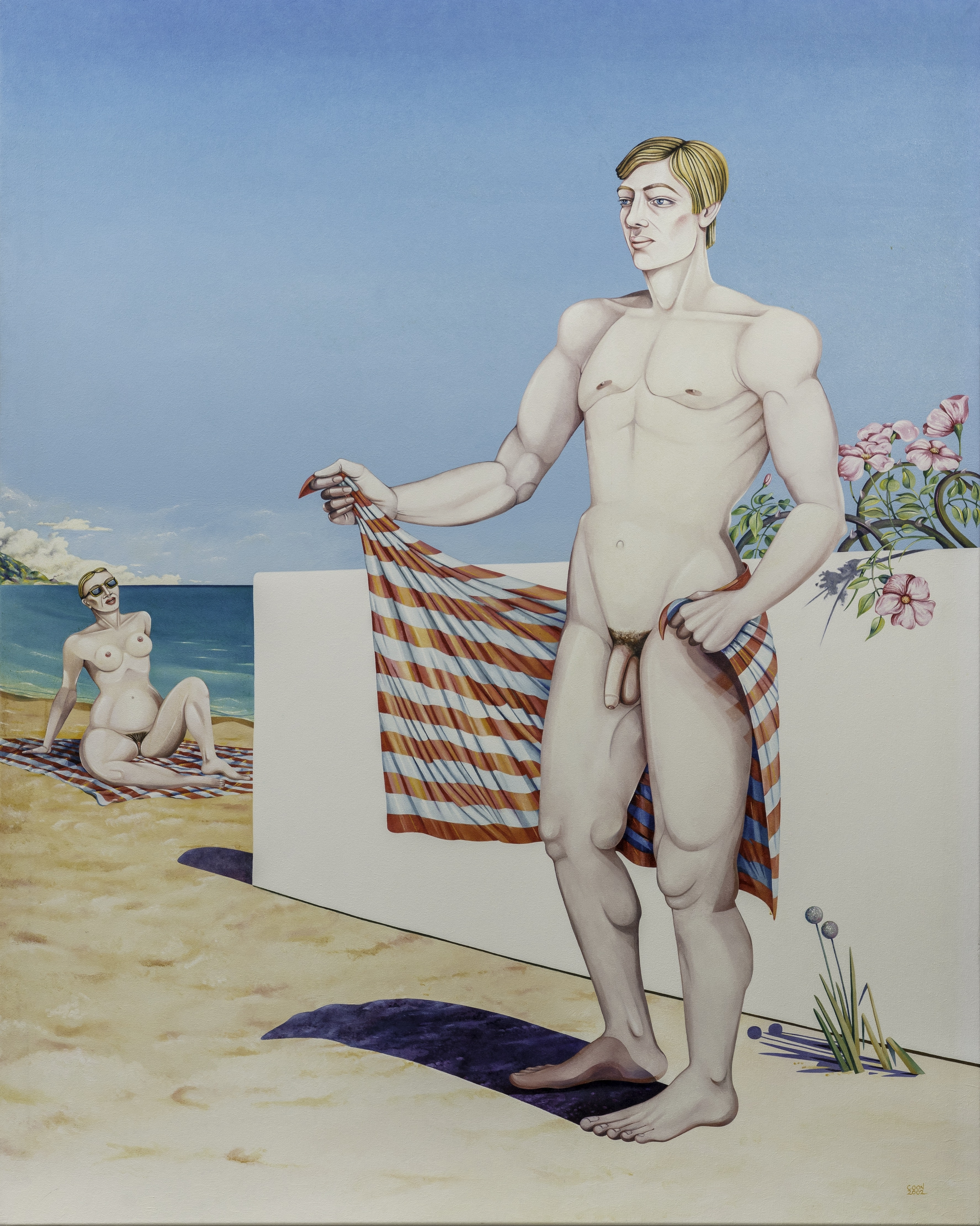 Caroline Coon, <em>See, He is Absolutely Gorgeous!</em> (2002), oil on canvas 152 x 122 cm. Courtesy the artist and TRAMPS New York and London. Photo: Richard Ivey.