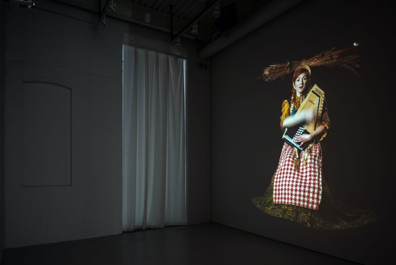Installation view: <em>Suzanne Bocanegra: Wardrobe Test</em>, Art Cake, Brooklyn, 2019. Courtesy Art Cake.