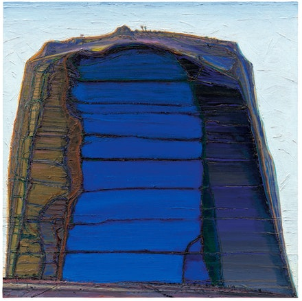 Wayne Thiebaud, <em>Big Rock Mountain</em>, 2004—12/2019. Oil on canvas, 54 x 54 inches. © Wayne Thiebaud / Licensed by VAGA at ARS, New York.