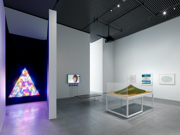 Installation view: <em>Agnes Denes:  Absolutes and Intermediates</em>, The Shed, New York, 2019. Photo: Dan Bradica. Courtesy the Shed.