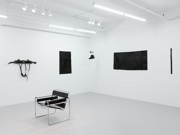 Installation view, <em>Tiona Nekkia McClodden: Hold on, let me take the safety off</em>, Company Gallery, New York, 2019.